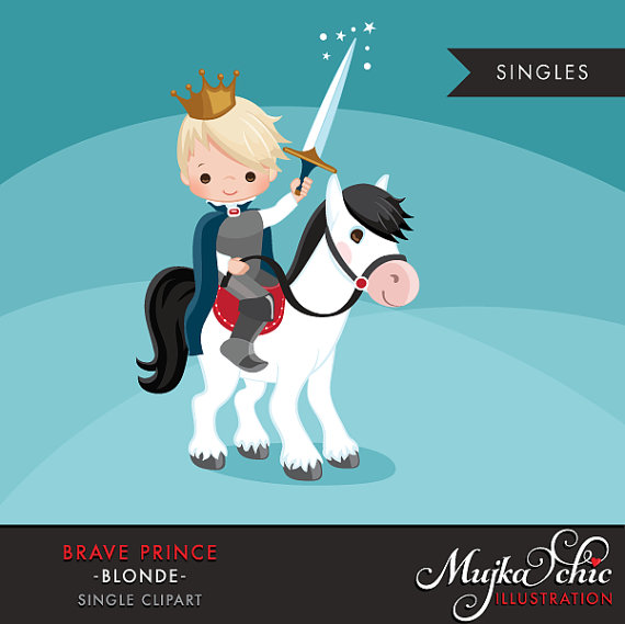 Cute graphic horse crown. Brave clipart prince