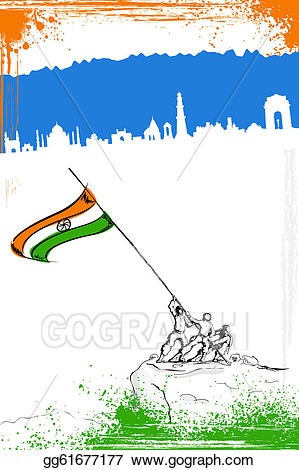 Vector art salute to. Brave clipart soldier indian