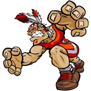 Brave clipart soldier indian. Warrior archives team logo