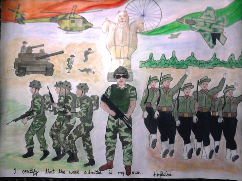 army paintings by. Brave clipart soldier indian