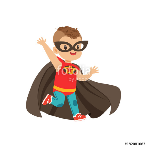 Brave clipart superboy. Comic kid with trendy
