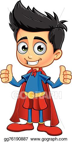 Eps vector super boy. Brave clipart superboy