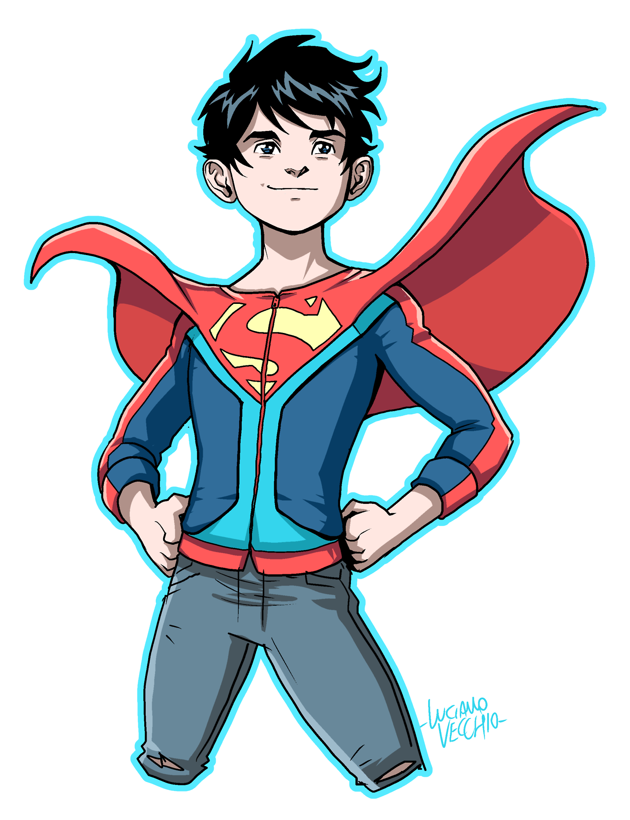 Brave clipart superboy. Rebirth luciano vecchio superman