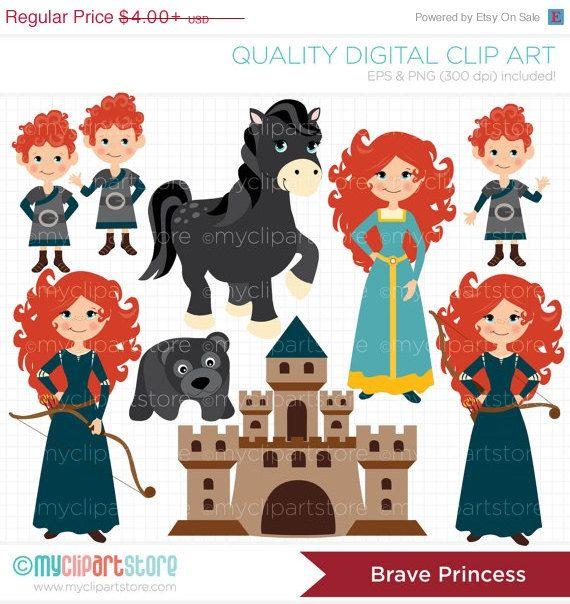 The princess marida digital. Brave clipart valiente