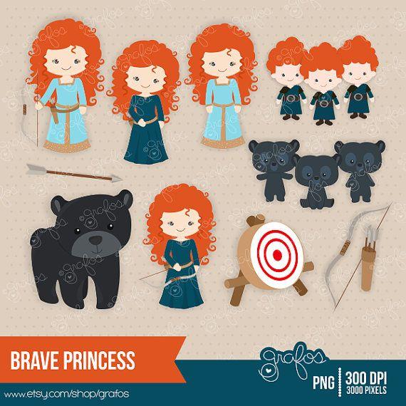 Brave clipart valiente. Princess digital princesa merdia