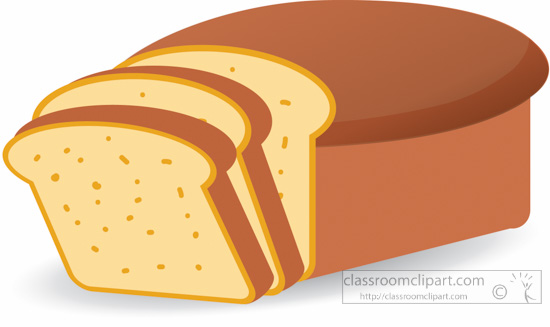 Food loaf sliced classroom. Bread clipart