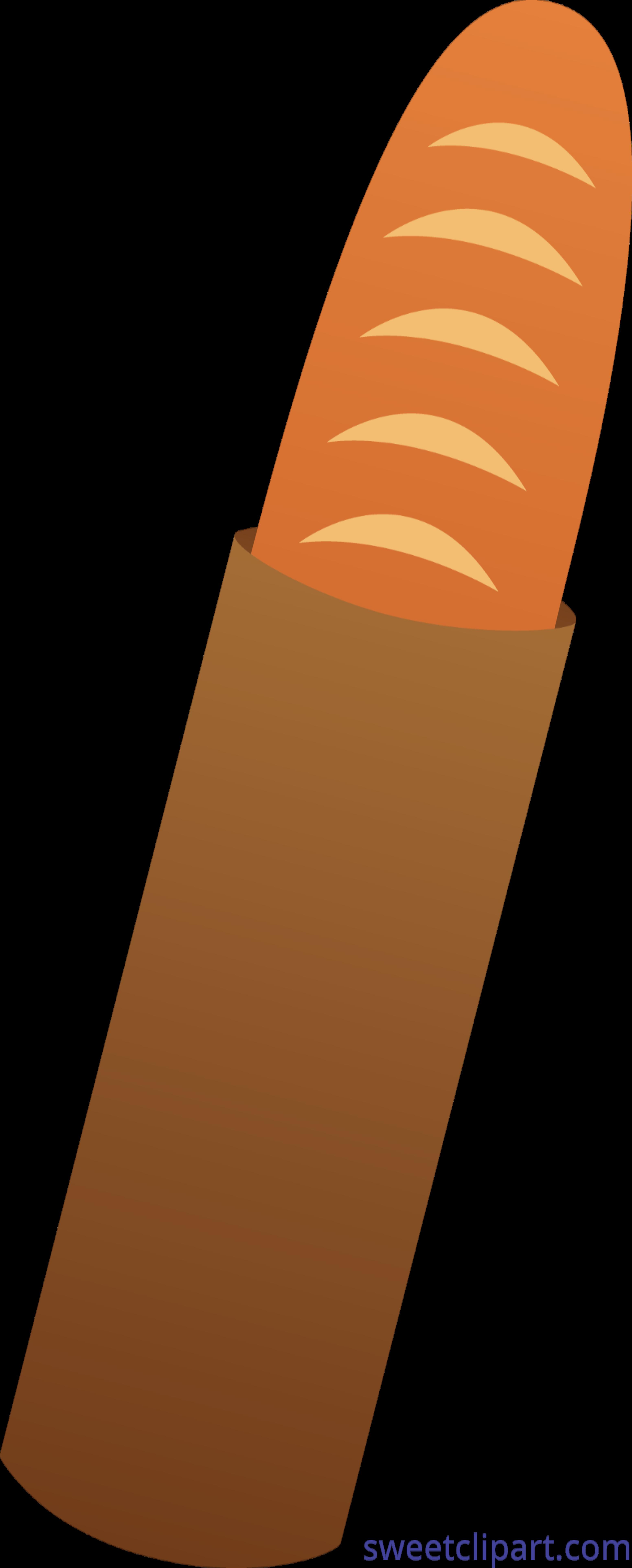 Clipart bread cute. Baguette clip art sweet