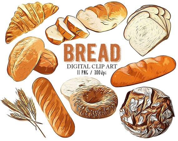 Food printables clip art. Clipart bread day