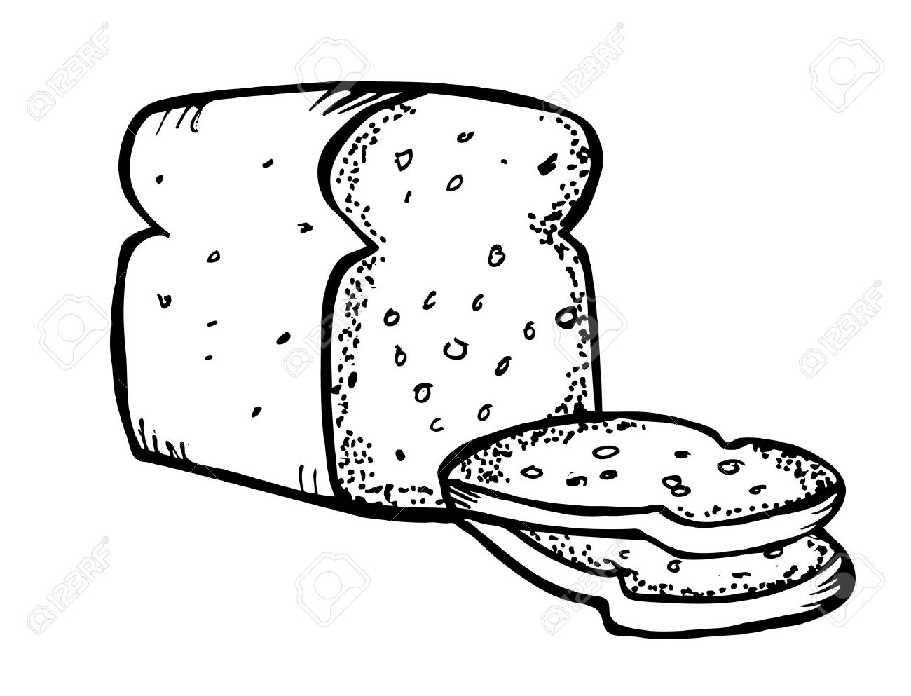 Bread clipart black and white. Station