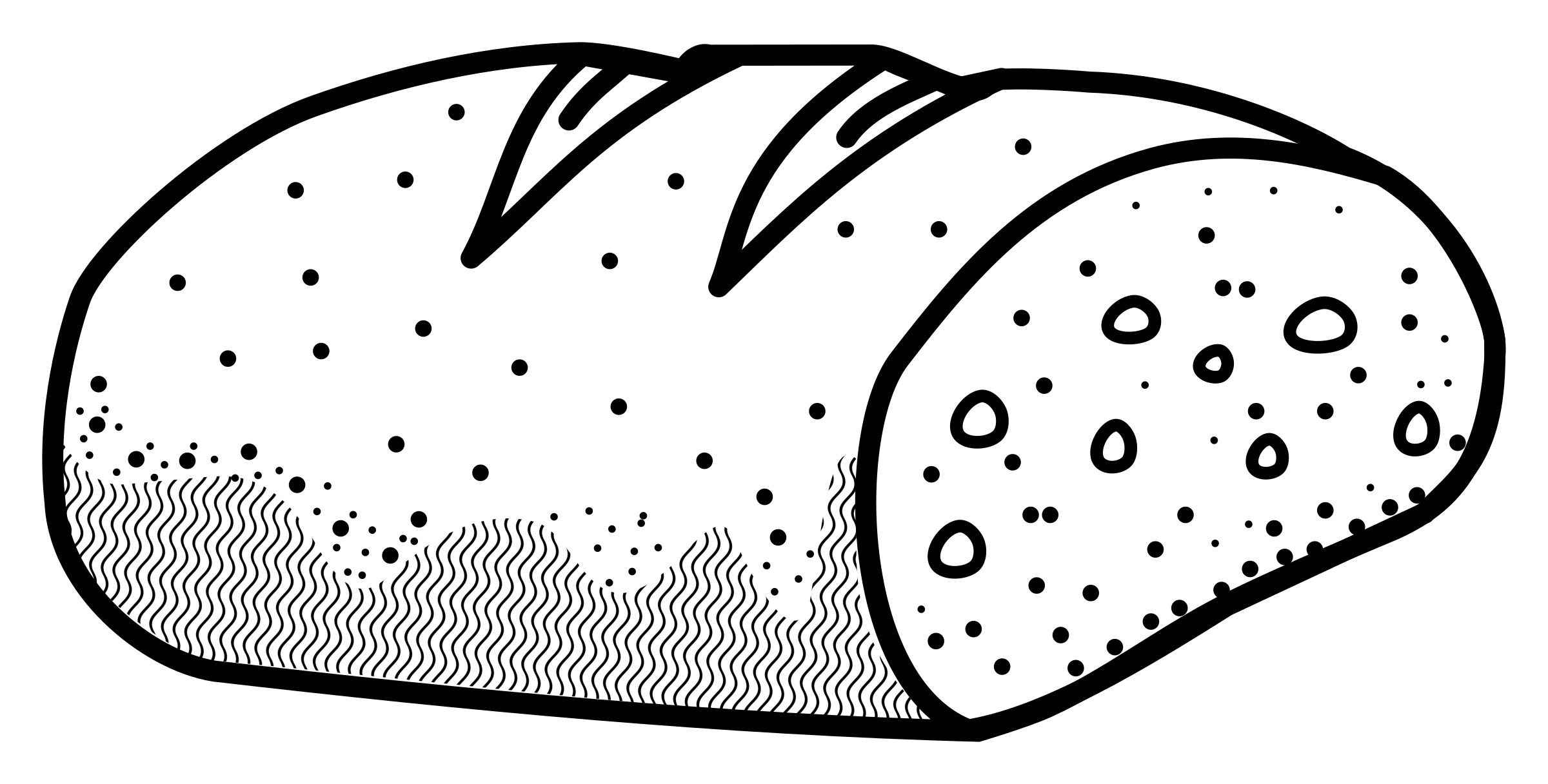 Black and white station. Clipart bread conchas