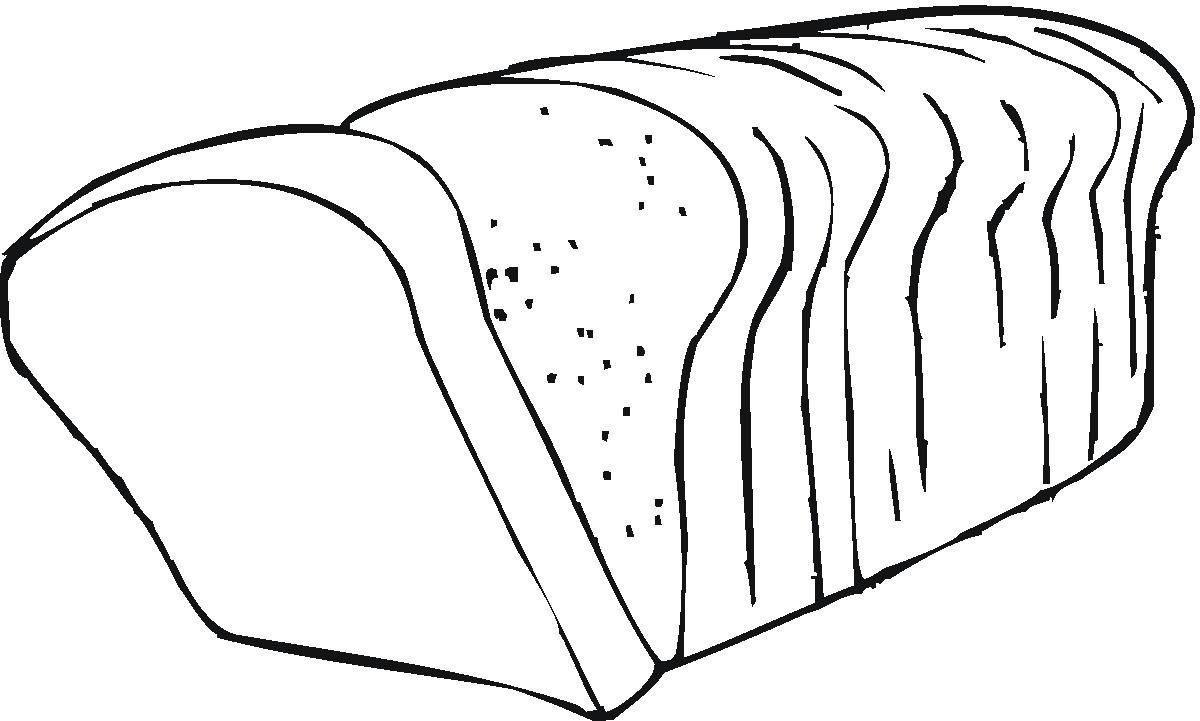 Clip art wikiclipart . Bread clipart black and white