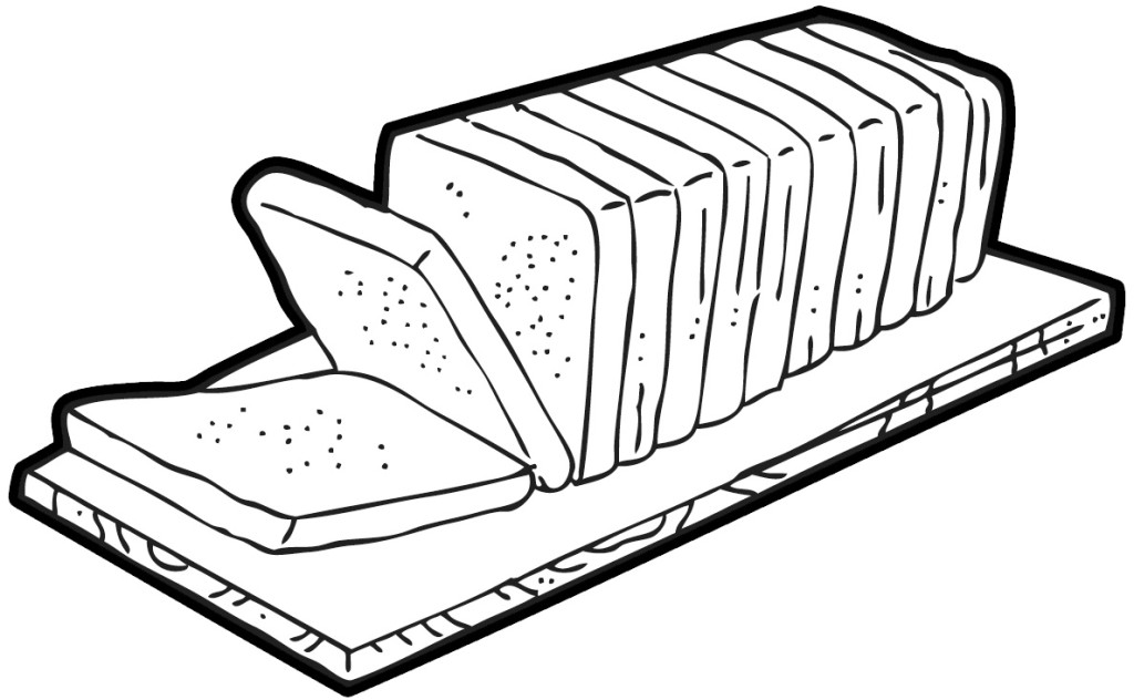Bread clipart black and white. Clip art library