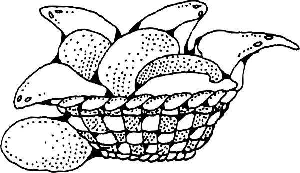 Clip art free vector. Bread clipart bread basket