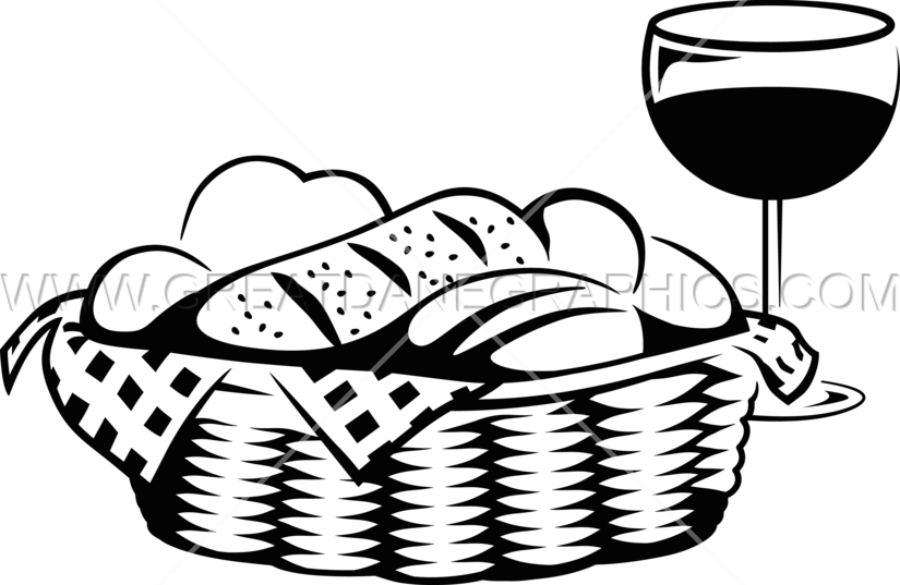 Production ready artwork for. Bread clipart bread basket