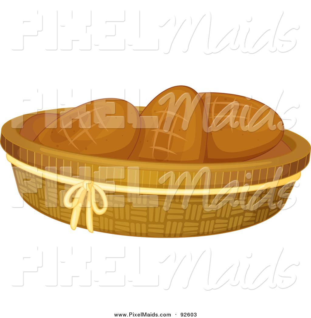 Bread clipart bread basket. Of a rolls by