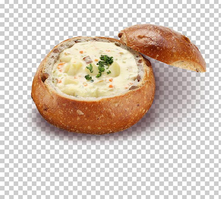 Clam chowder new england. Bread clipart bread bowl