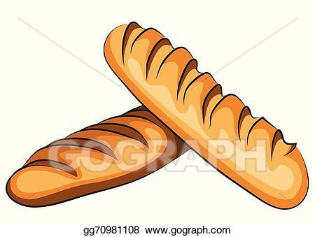 Bread clipart bread french. Vector illustration