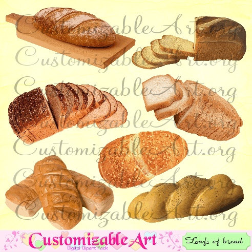 Digital clip art loafs. Bread clipart bread french