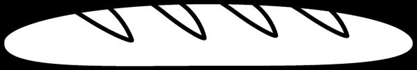 Bread clipart bread french. Black and white clip