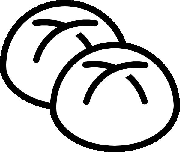 White rolls clip art. Bread clipart bread roll