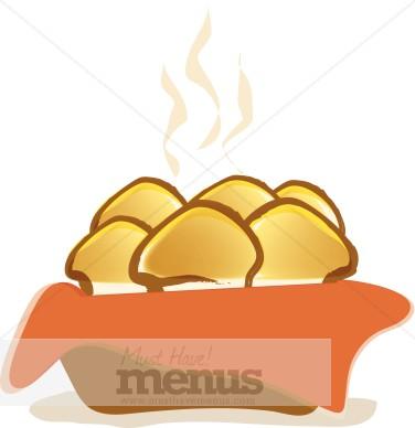 Dinner rolls . Bread clipart bread roll