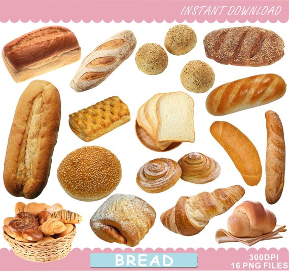 Bread clipart breakfast bread. Food printables clip art