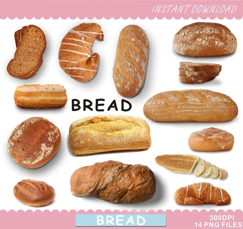 Clipart bread breakfast bread. Food printables clip art