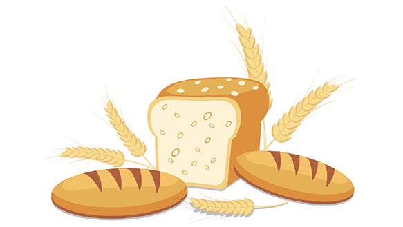 Best bread for people. Grains clipart refined