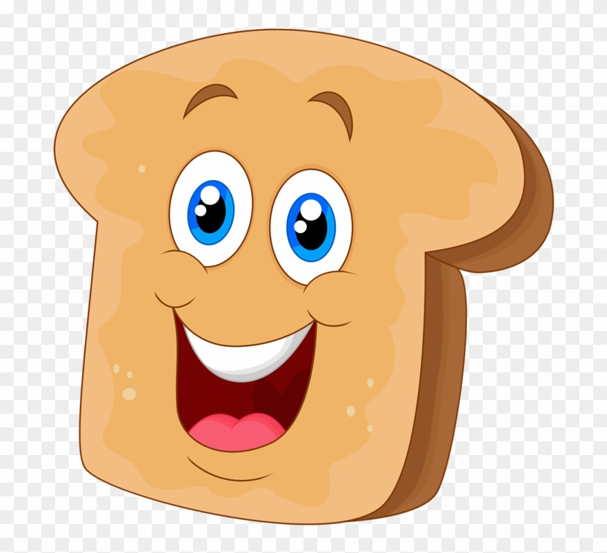 Face with faces png. Bread clipart cartoon