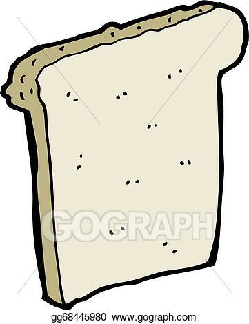 Bread clipart cartoon. Vector stock slice of