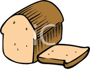 A sliced loaf of. Bread clipart cartoon
