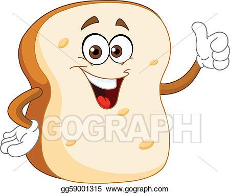 Bread clipart cartoon. Eps vector slice stock