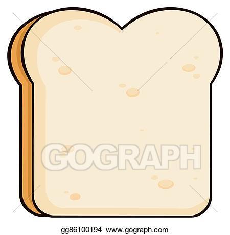 Clipart bread slice bread. Vector cartoon illustration
