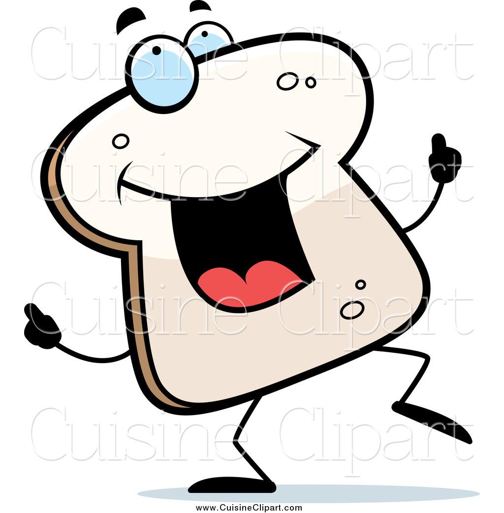 Bread clipart character. Cuisine of happy dancing
