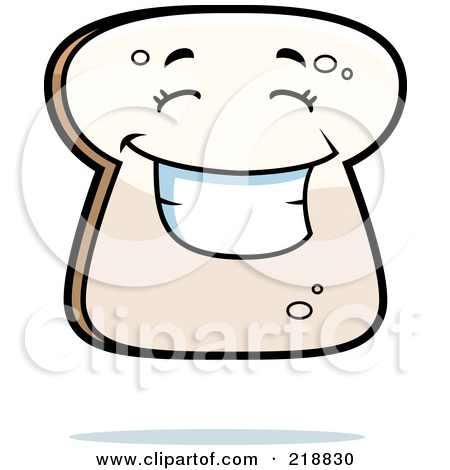 Bread clipart character. Slice of panda free