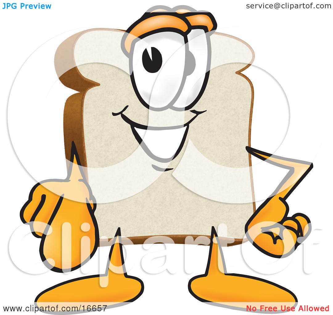 Slice of black and. Bread clipart character