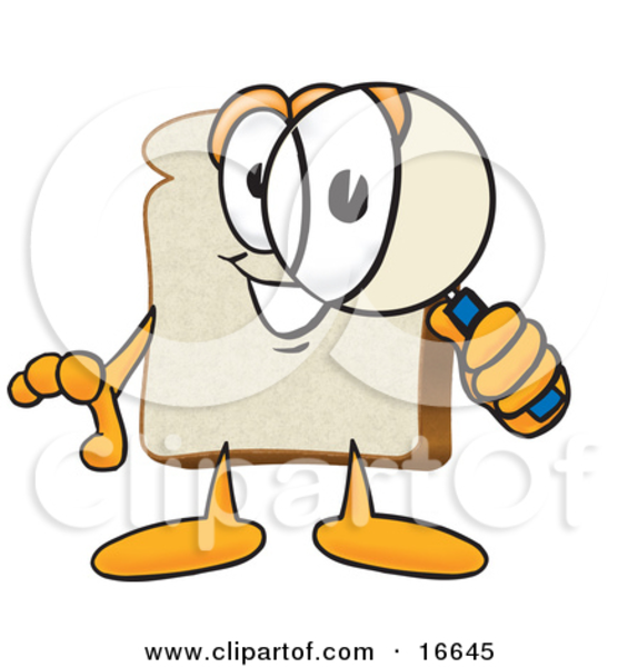 Picture of a slice. Bread clipart character