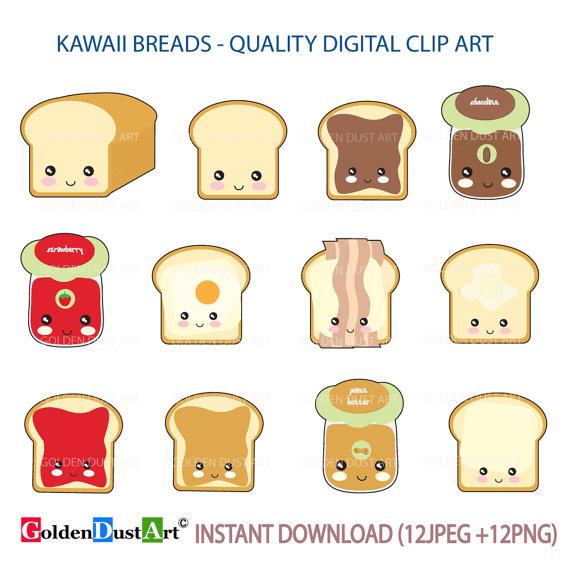 bread clipart cute