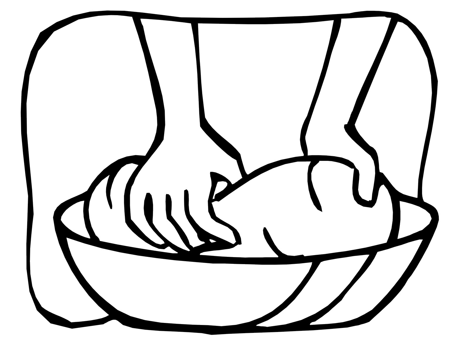 Bread clipart drawing. Line at getdrawings com