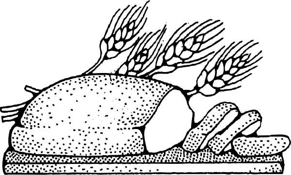 bread clipart drawing