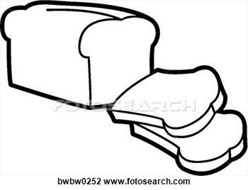 collection of art. Bread clipart drawing