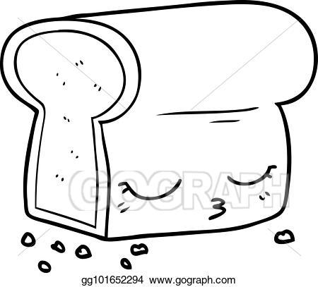 Vector art cartoon loaf. Bread clipart drawing
