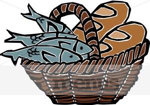 Bread clipart fish. Basket