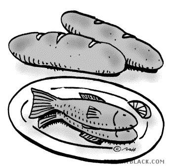 Bread clipart fish. And clipartblack com animal