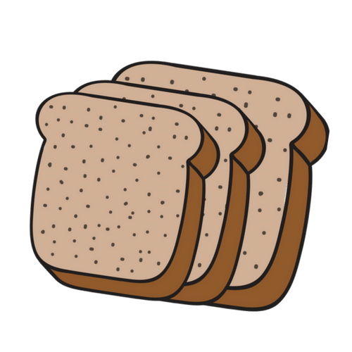 Whole e s l. Bread clipart grain