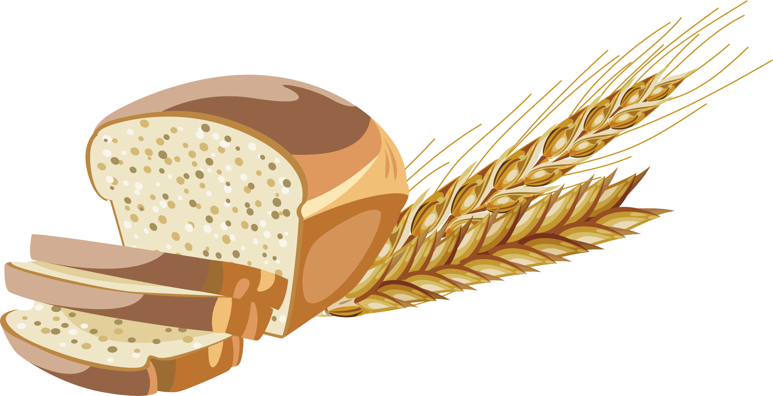 Clipart bread grain. Whole wheat brown