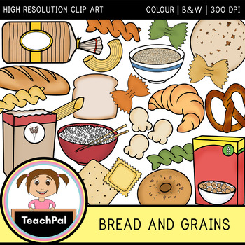 And clip art food. Grains clipart bread cereal rice pasta group