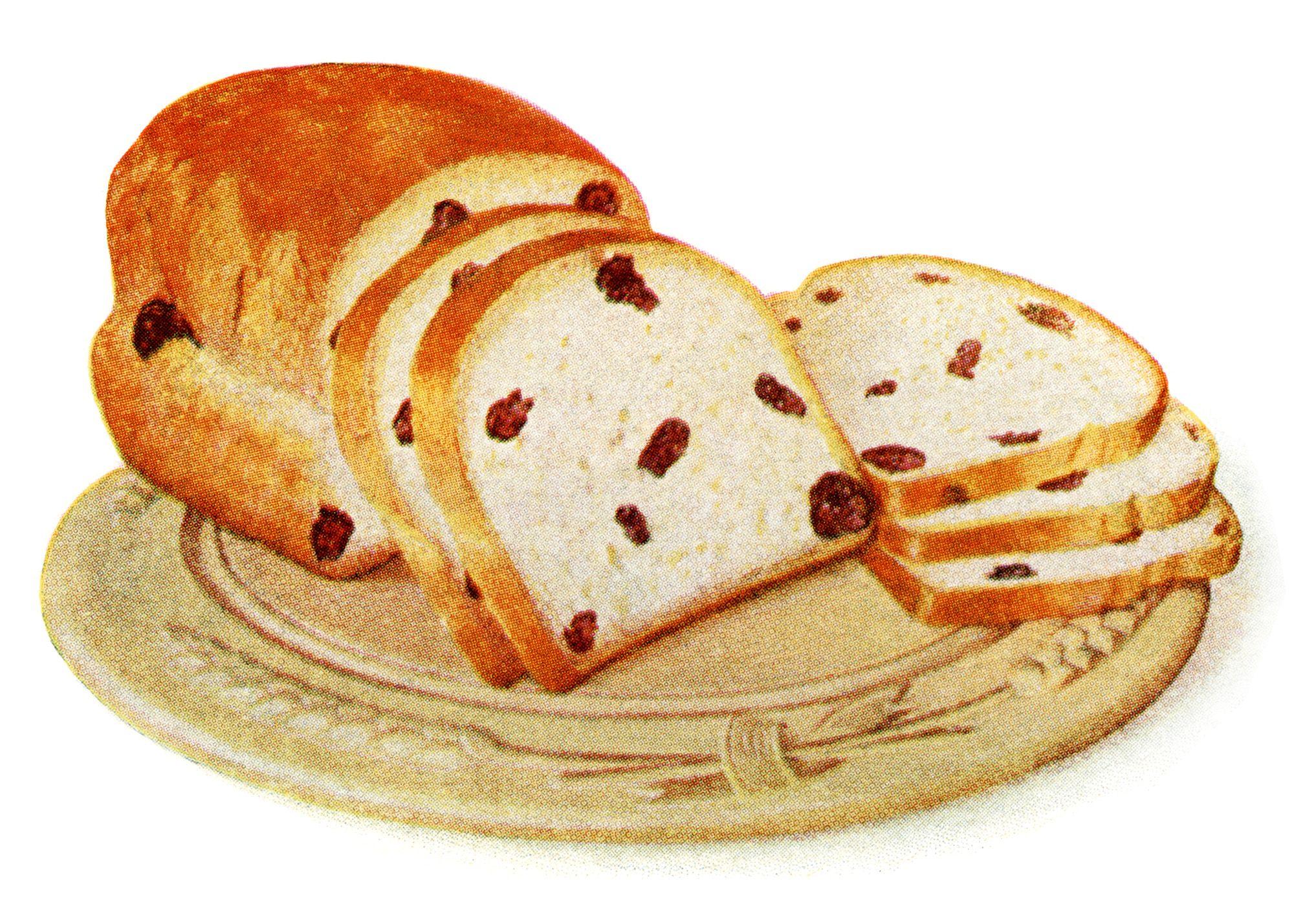 Bread clipart homemade bread. Loaf of raisin free