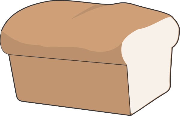 Bread clipart loaf bread. Of with no separate