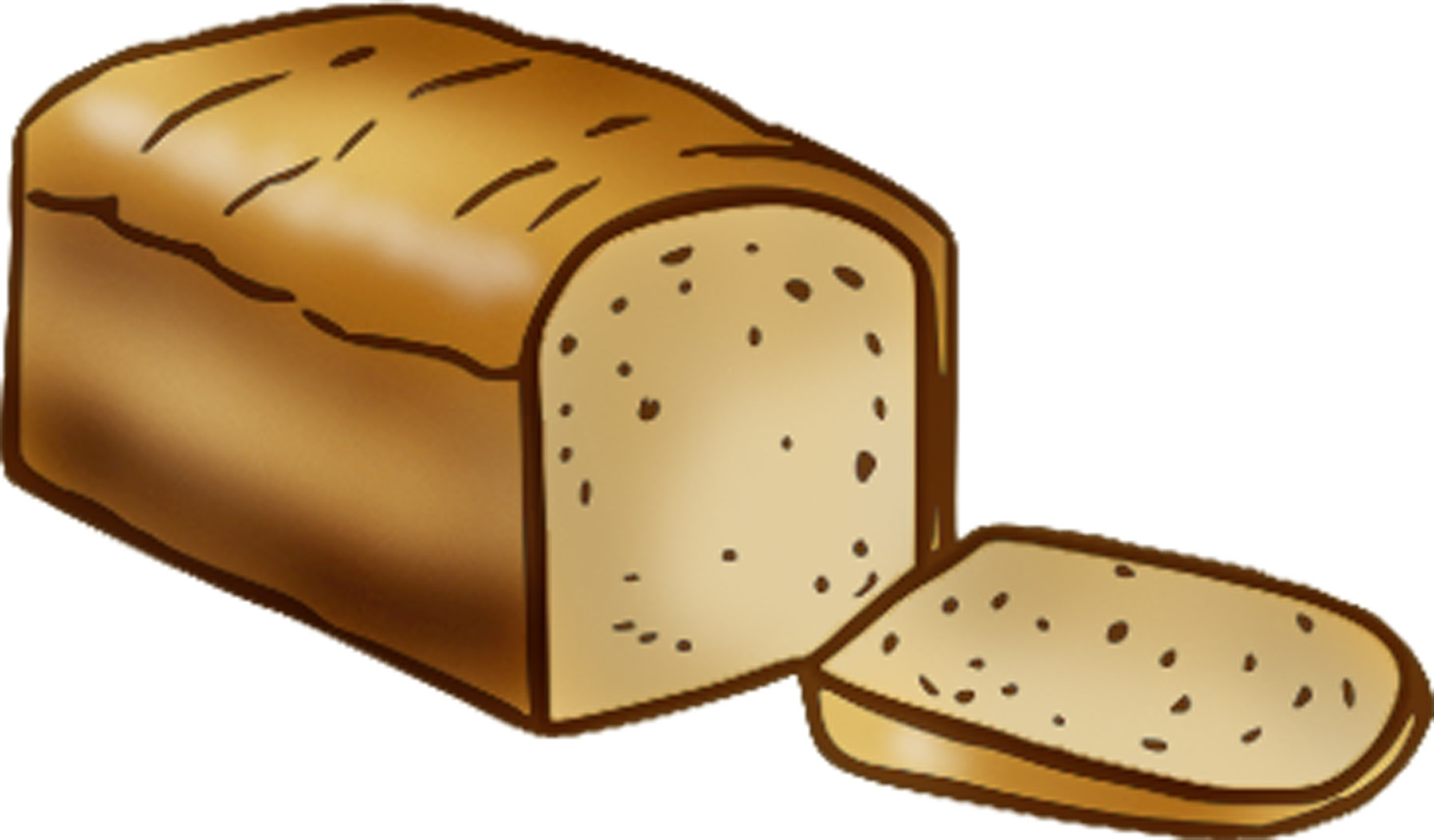 Bread clipart loaf bread. Unique of collection digital